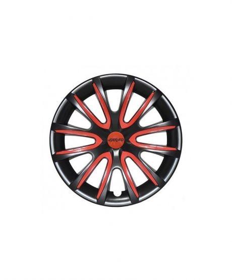 Set Coppe Ruota FARAD Freewheeling Black + Inserti Red