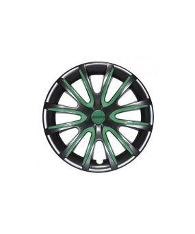 Set Coppe Ruota FARAD Freewheeling Black + Inserti Green