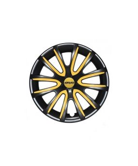 Set Coppe Ruota FARAD Freewheeling Black + Inserti Yellow
