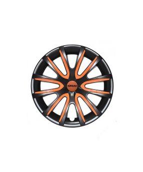 Set Coppe Ruota FARAD Freewheeling Black + Inserti Orange